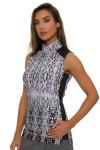 EP Pro NY Women's Gold Standard Animal Print Golf Sleeveless Shirt-1