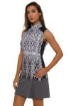 EP Pro NY Women's Gold Standard Animal Print Golf Sleeveless Shirt-4