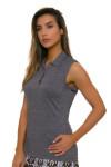 EP Pro NY Women's Gold Standard Pleat Mesh Back Golf Sleeveless Shirt-2