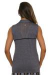 EP Pro NY Women's Gold Standard Pleat Mesh Back Golf Sleeveless Shirt-1a