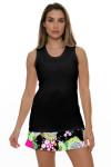 Allie Burke Women's U Neck Black Tennis Tank AB-TT01-BLK Image 2