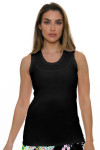 Allie Burke Women's U Neck Black Tennis Tank AB-TT01-BLK Image 1