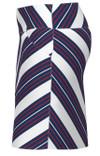 Allie Burke Red White Blue Cross Stripe Pull On Golf Skort