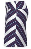 Allie Burke Red White Blue Cross Stripe Pull On Golf Skort
