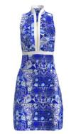 Allie Burke Abstract Ocean Golf Dress