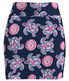 Allie Burke Sea Turtle Navy Print Pull On Golf Skort
