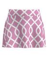 Allie Burke Pink Lattice Flounce Pull On Golf Skort