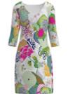 Allie Burke Japanese Garden Print Dress