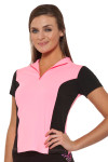 HydroChic Zip-Up Sport and Swim Top (HC-TZ401)
