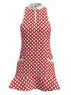 Allie Burke Mosaic Red White Flounce Golf Dress (GD003-MOSRW)