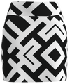 AB SPORT Women's Black White Geo Golf Skirt