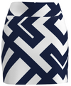AB SPORT Women's  Navy White Geo Golf Skirt