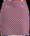 AB Sport Women's Red Navy Boat Print Golf Skirt