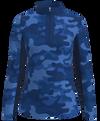 AB Sport Women's Long Sleeve UV 40 Camo Navy  Sun Shirt
