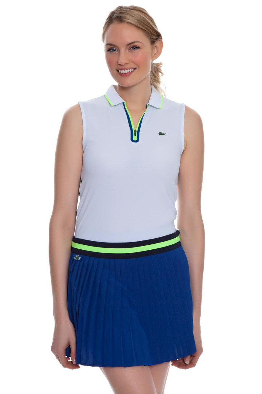 06b91851276b Lacoste Women s Royal Blue Contrast Waistband Pleated Tennis Skirt  LC-JF5972-51 Image 4