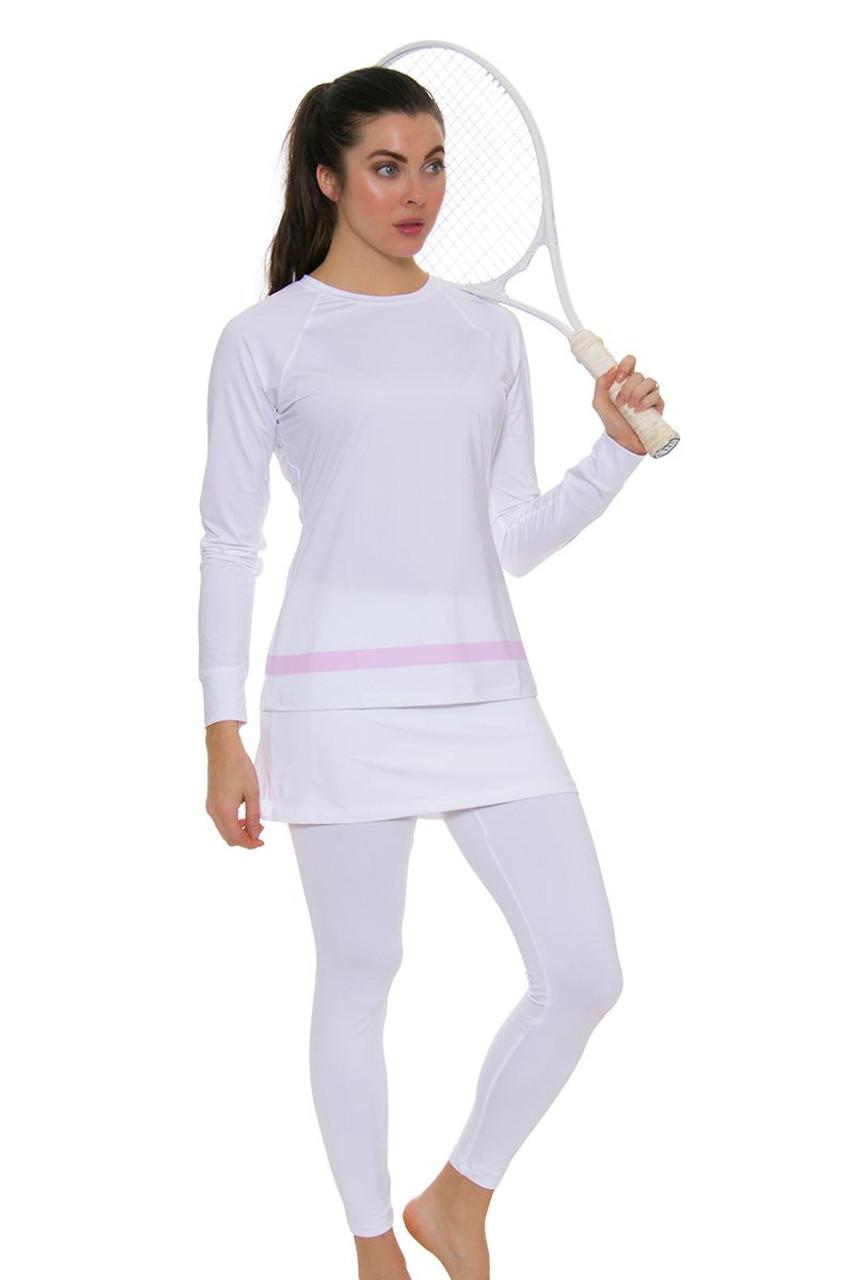 Sofibella White Tennis Skirt Leggings Sfb 1708 White Skirt Leggings