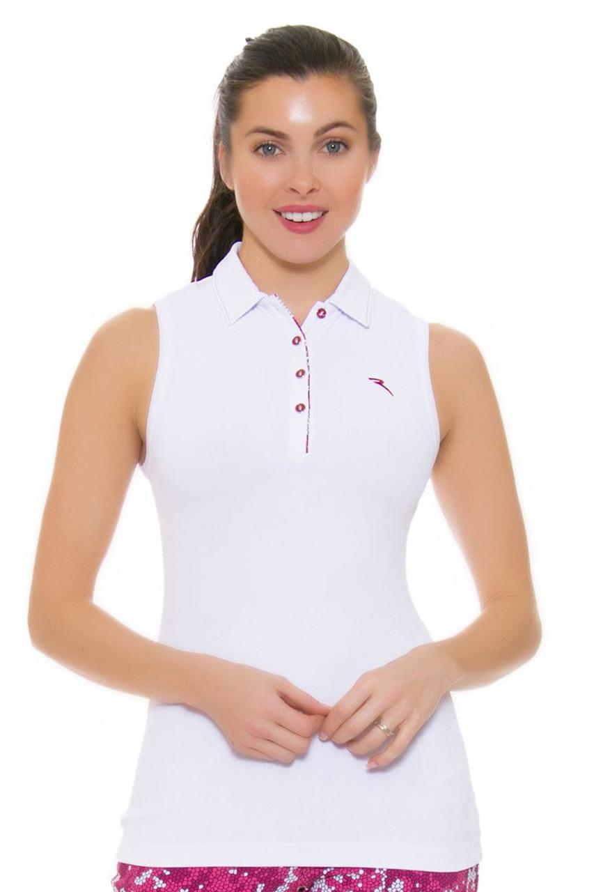 74128aa5221f8 Chervo Women s Tropical Emotion Andrate White Golf Sleeveless CS-61766-100