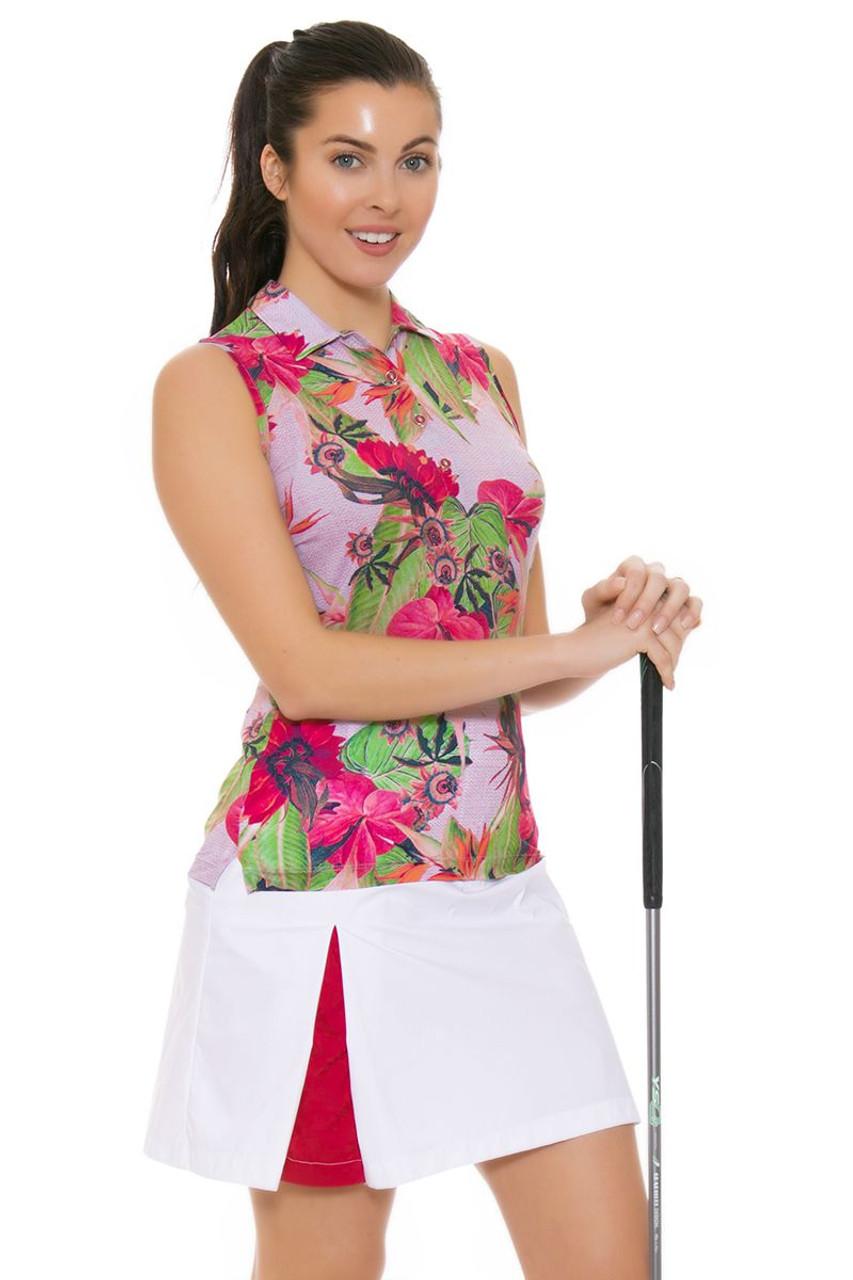 1004c6d606896 Chervo Women s Tropical Emotion Josefa White Golf Skort CS-61810-100 ...
