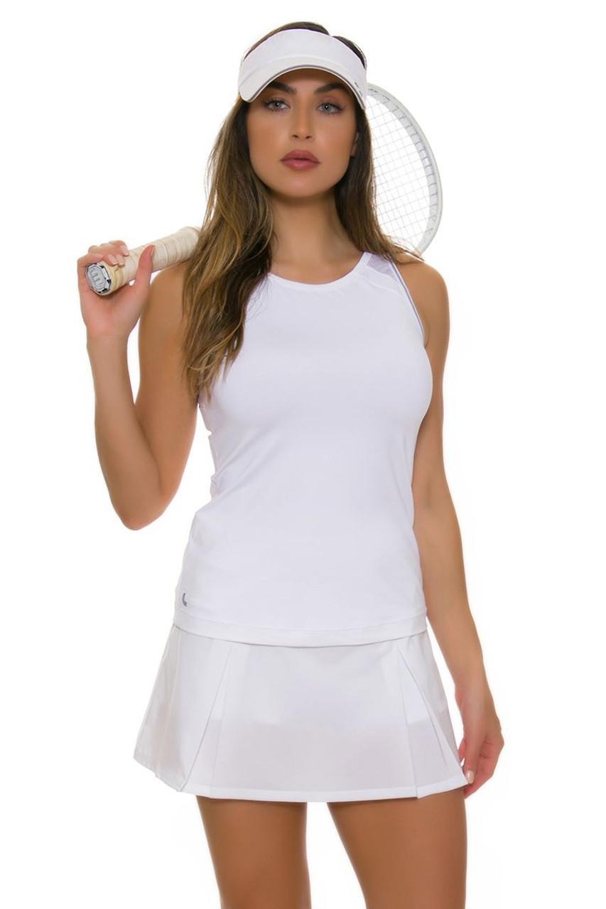 Lole Women's Justine White Tennis Skirt