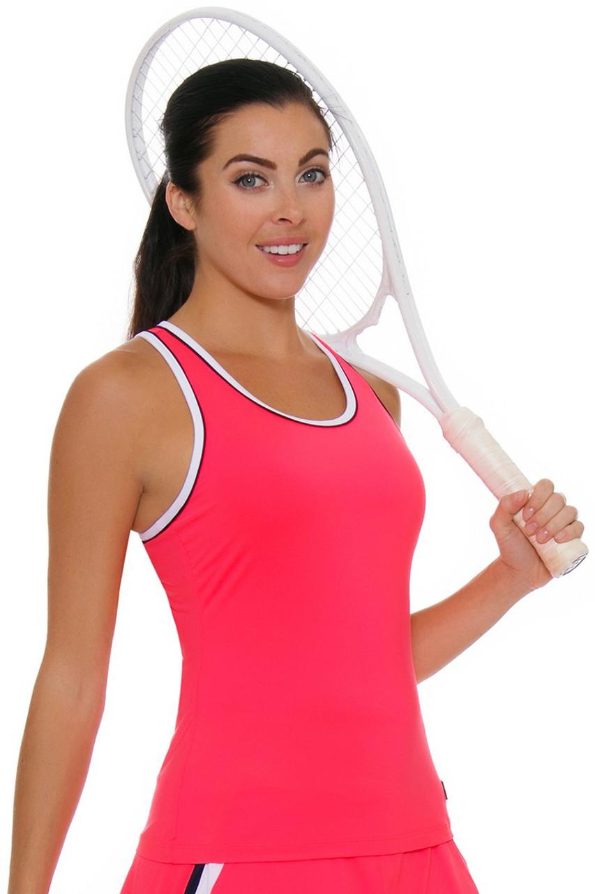 6aa38c9d Fila Women's Heritage Solid Racerback Diva Pink Tennis Tank