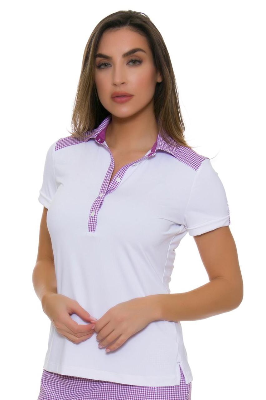 Fairway And Greene Womens Moxie Hannah Golf Polo Shirt Fg I32223 White