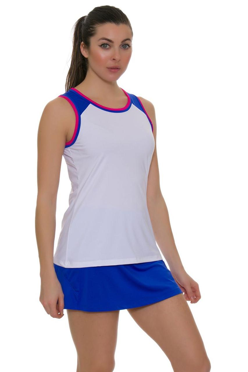 a9df51465f29a Fila Women s Sweetspot Mesh Back Blue Tennis Skirt FT-TW181D45-499
