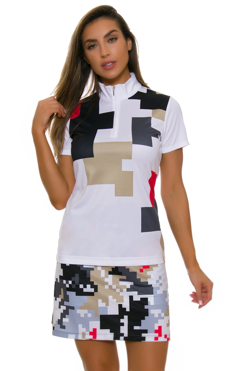 2f78815327d EP Pro NY Women s Gold Standard Abstract Puzzle Pull On Golf Skort ...