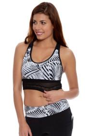 11344e51cbe50 New Balance Women s Black-White Printed Sports Bra Crop
