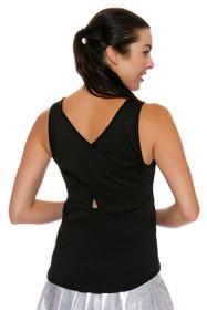 65024a2e9fca0 Lucky In Love Women s Core Tops Tie Back Lava Tennis Tank LIL-CT327-820