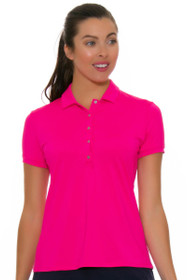 a0d1a81ff70f3 Lucky In Love Women s Core Le Snap Shocking Pink Golf Polo