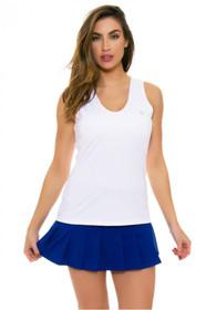 582d427f086257 Eleven Blue Flutter Pleated Tennis Skirt E-CP505C-420 Image 5