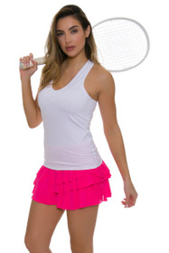 ad251c9641388 Lucky In Love Women s Core Laser Cut Rally Pleat Pink Tennis Skirt