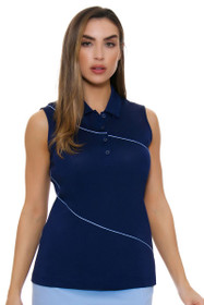 e21e85485b2 EP Pro NY Women s Luxor Curved Piping Trim Golf Sleeveless Shirt