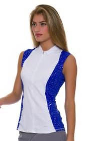 892556063 Annika Women s Hero Colorblock Golf Sleeveless Shirt