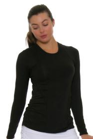 c567786deaf65 Lucky In Love Women s Core Contour Black Tennis Long Sleeve