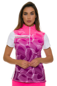 2f58cff511ccd Annika Women s Intuition Print Mix Up Golf Cap Sleeve Top