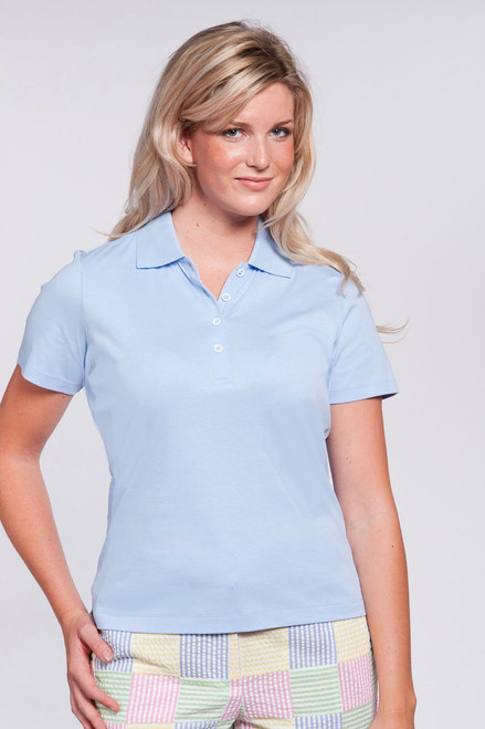 Accent Collar Liquid Cotton® Pink Polo