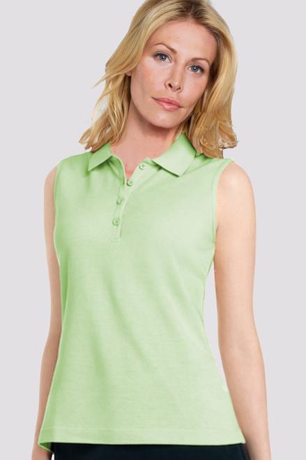 Sleeveless 4 Button Ladies Golf Polo-2 Colors