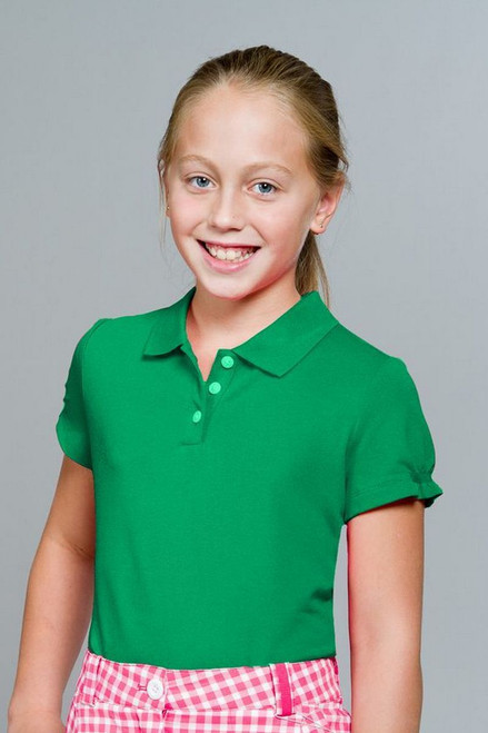 Nike Girls Tech Green Pique Polo