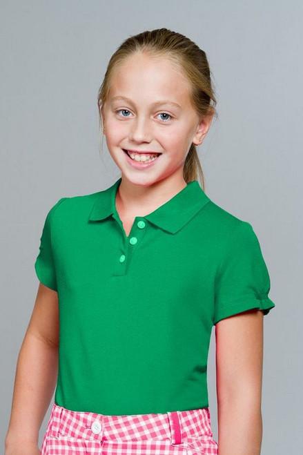Nike Girls Tech Green Pique Polo