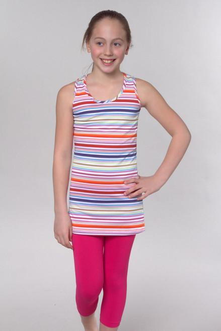Multi Stripe Girls Dress TLT-KA0814 Image 1