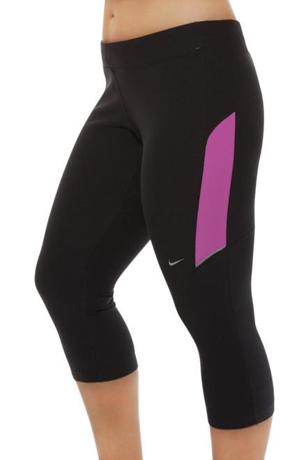 láser montar mercenario  Filament Capri-Plus N-520501-Club Pink | Black Workout Capri Pants