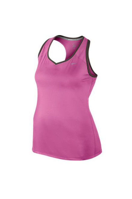 Nike Women's Plus Size Racerback Tank - Club Pink