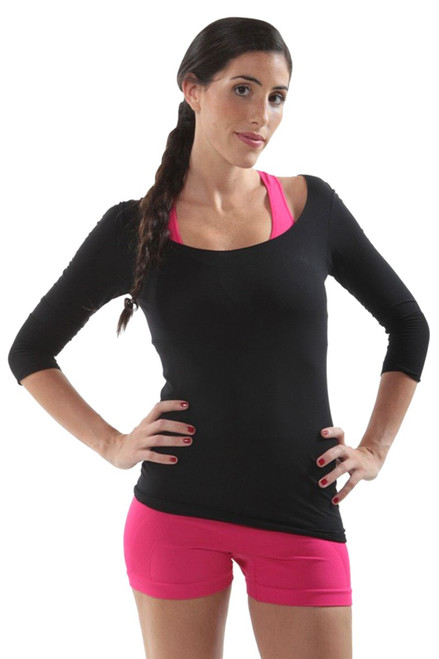 Classy 3/4 Sleeve Skin Top EY-4CN101 Image 1