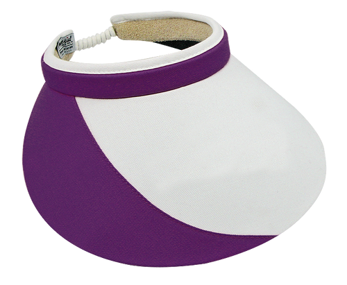 "Shady Lady 5"" White Purple Visor"