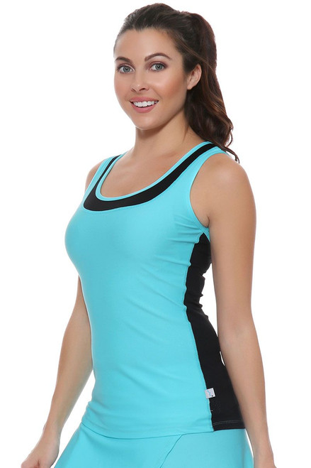 Cabo Blue Vented Tennis Tank Top BP-40849