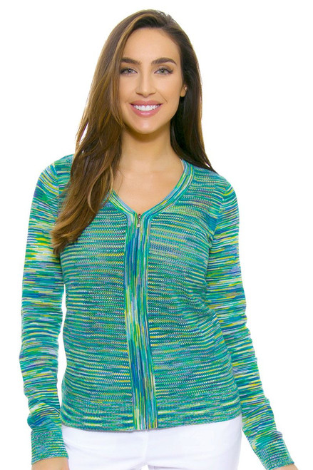 EP Ipanema Space Dye V Neck Zip Cardigan