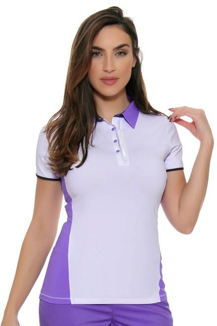 Annika Womens City Luxe Marietta Short Sleeve Golf Polo Shirt