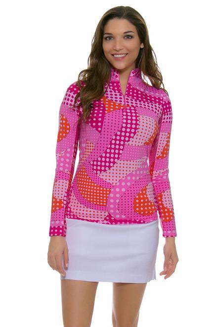 Neon Dots Mock Sun Shirt ICK-10534-Pink Image 1