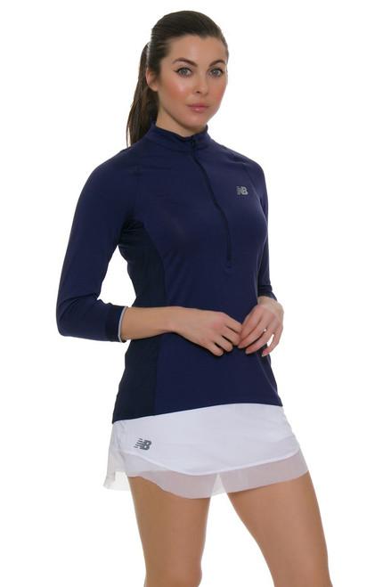 c9921e109d1f5 Bellevue 3/4 Sleeve Tennis Top NB-WT53429-AVI   Blue long sleeve ...